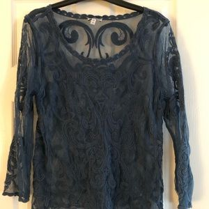 Express Womens Lacy Top.